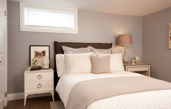 Bright and airy basement bedroom #IncomeProperty #HGTV: