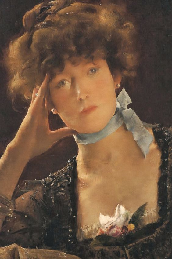 Alfred Stevens (1823-1906), Portrait de Sarah Bernhardt - 1885: