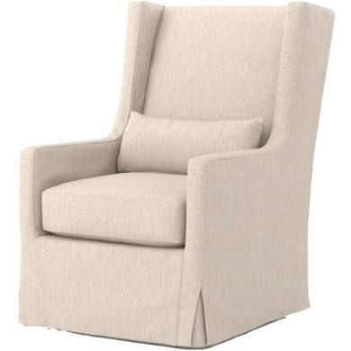 Four Hands Kensington Swivel Wing Chair, Jette Linen, Chairs,Fabric #wingchair #linenchair
