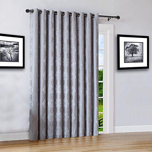 Warm Home Designs Extra Wide Extra Long 110 X 96 Grey Silver 100 Blackout Insulated Thermal Patio Door Panel Room Breaker French Door Or Sliding Door Curtain In 2020 Patio Door