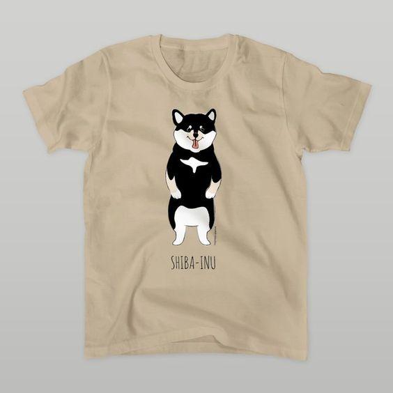 <受注生産>メンズTシャツ(5.0オンス)黒柴ちゃん by ヌイグルミ制作室ビアンカ ファッション Tシャツ