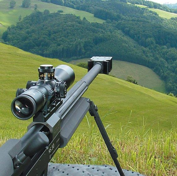 .50 cal long range sniper rifle could fold a person in half from over a mile away.