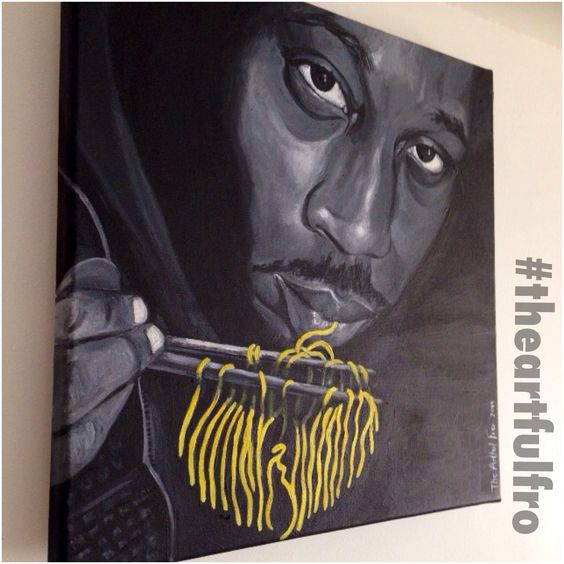 My Artwork #RZA from #wutangclan  #theartfulfro #hiphopart