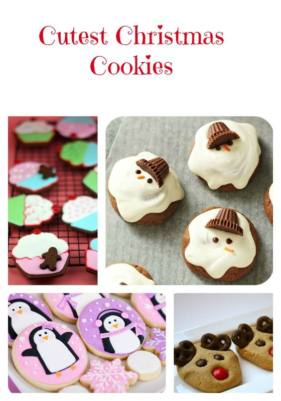 Cutest Christmas Cookies Reindeer Candy Canes And Too Cute