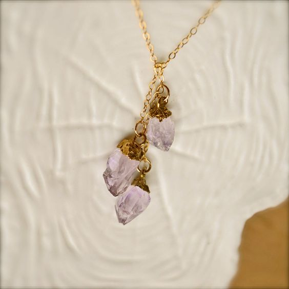 Gold Lariat Necklace  by illuminancejewelry