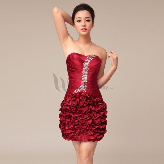 Mini Prom Dress red prom dress