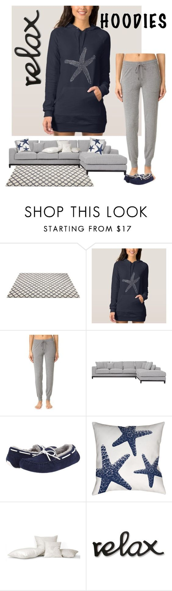 """Relax - Seaside Hoodie"" by mermadem7 ❤ liked on Polyvore featuring P.J. Salvage, UGG and Thumbprintz"