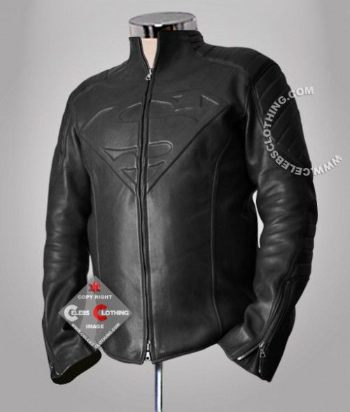 Online Buy Black Superman Smallville Leather Jacket in Real