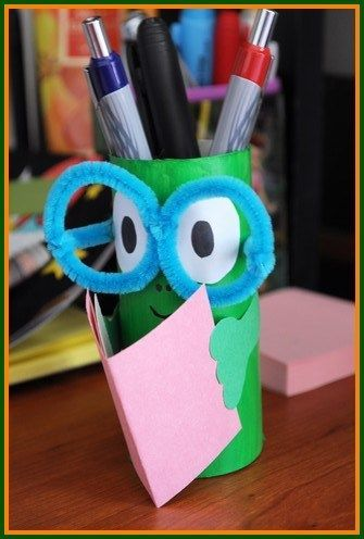 Pencil holders, For kids and Crafts for kids on Pinterest