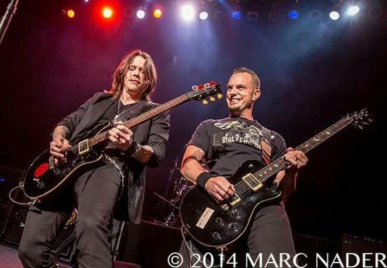 Myles on the fall 2014 Alter Bridge Fortress tour.