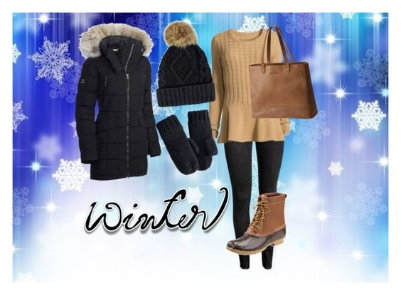 """""""Baby It's Cold Outside"""" by greenblueandcream ❤ liked on Polyvore featuring H&M, Neiman Marcus, L.L.Bean, Uniqlo and SOREL"""