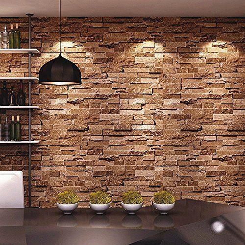 Birwall Cultural Faux Brick Stone Wallpaper 3d Kitchen Living Home 44 Faux Brick Walls Stone Wallpaper Faux Brick
