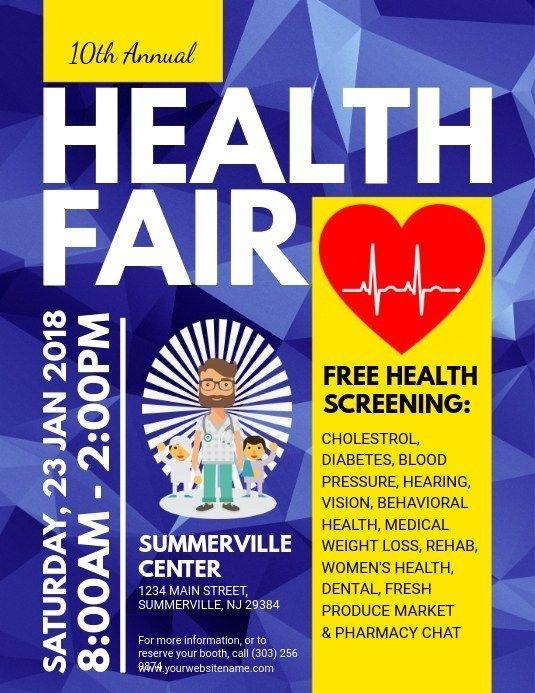 Free Health Fair Flyer Templates Torunrsd7 In 2020 Health Fair Flyer Template Flyer