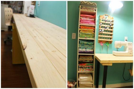 LOVE this craft room  at KellyOribine.com