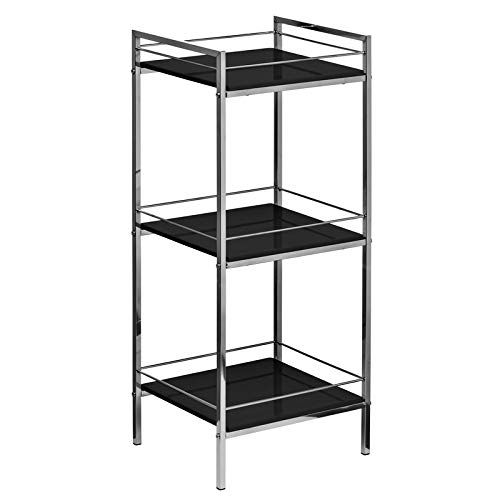 Stylish Design 3 Shelf 84cm Accent Bookcase Unit With Chrome