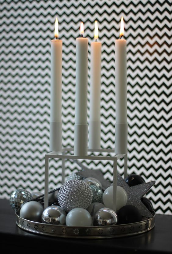 Advent candles candle decorations and advent on pinterest for Advent candle decoration