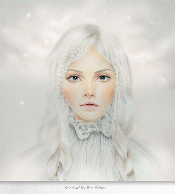 Delicate Female Portraits by Bec Winnel