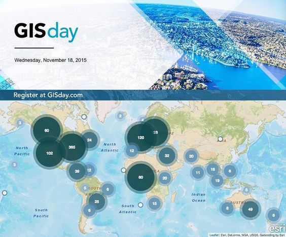 Tells us in the comments where you're celebrating #GISDay! by esrigram