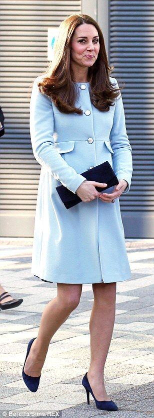 Glamorous visitor: During her visit to the Academy, the Duchess went back to school and jo...