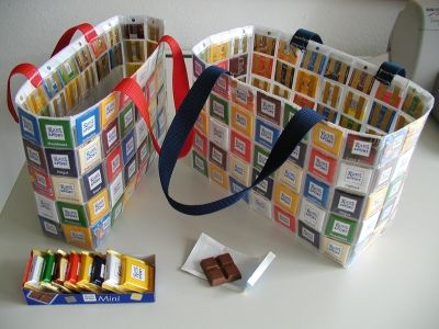 ritter sport recycling tasche n hen pinterest taschen sport und projekte. Black Bedroom Furniture Sets. Home Design Ideas