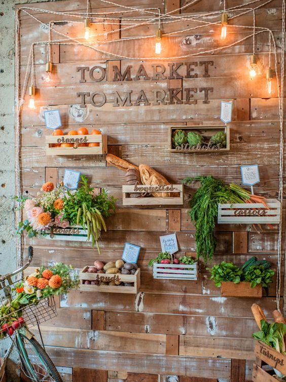 Una original boda ambientada en un mercado Parisino   Estilo Escandinavo