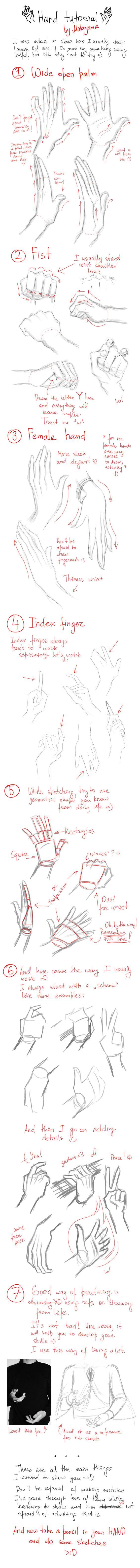 Hands tutorial by Makoyana.deviantart.com on @deviantART