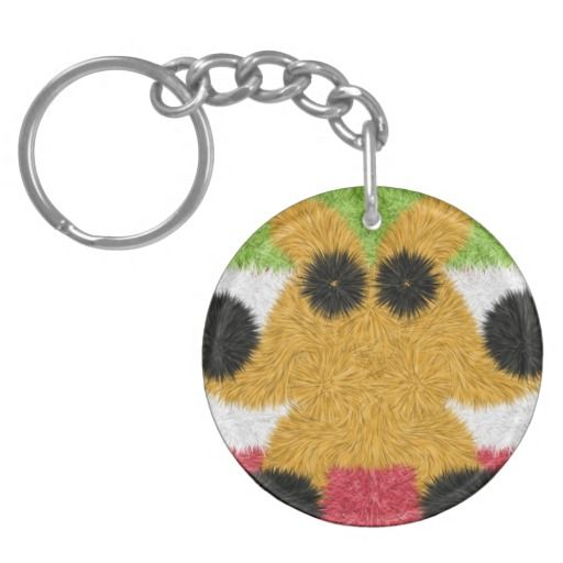 Colorful abstract pattern with strange creature keychains