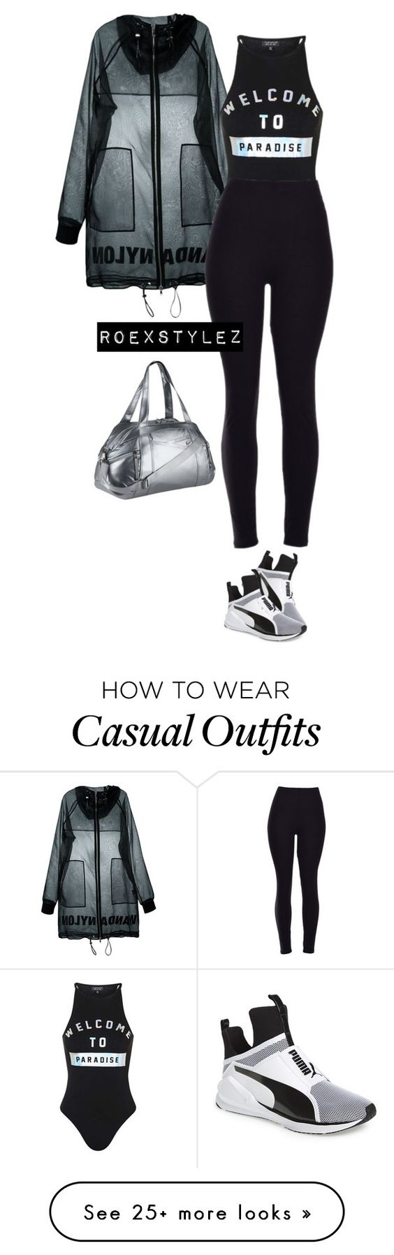"""CASUAL COLLECTION"" by roexstylez89 on Polyvore featuring Wanda Nylon, Puma, NIKE and Gymflow"