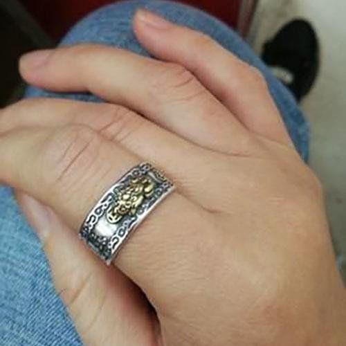 Feng Shui Pixiu Mantra Ring | Mantra ring, Feng shui ring, Ring fit