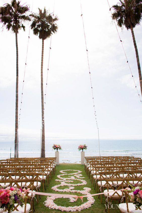 Ocean view ceremony at Scripps Seaside Forum Wedding, Photography by The Youngrens View More: ( theyoungrens.com/blog/weddings/scripps-seaside-forum-wedding-part-one-bryan-and-amy/ )
