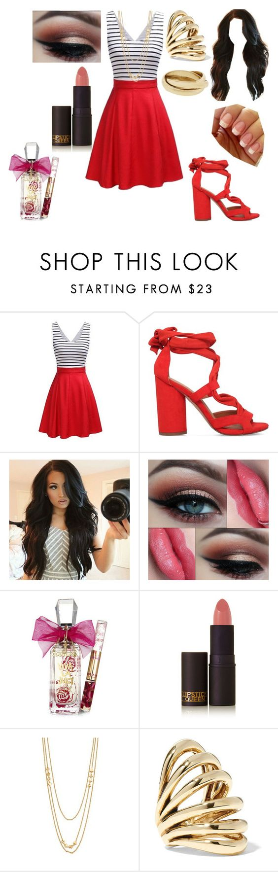 """""""Untitled #485"""" by nerdynerdy ❤ liked on Polyvore featuring KG Kurt Geiger, Juicy Couture, Lipstick Queen, Gorjana and Lisa Eisner"""