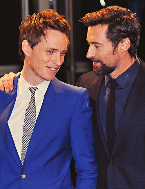 Eddie Redmayne and Hugh Jackman