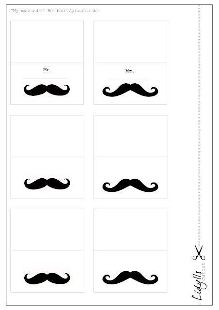 ~Tafel-naamkaartjes om uit te printen~