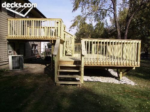 Multi level deck picture gallery deck ideas pinterest for Split level garden decking