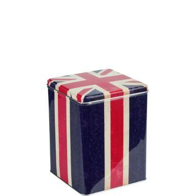 """God save the Union Jack! La bandera del Reino Unido de Gran Bretaña e Irlanda del Norte nació en 1801 a partir de las banderas inglesa, escocesa e irlandesa. No está claro de dónde surgió el término """"Jack"""", aunque es probable que tenga su origen en el rey Jacobo I. En cualquier caso, con este bote para té de la línea Great Britain estará más que preparado para el té de las cinco."""