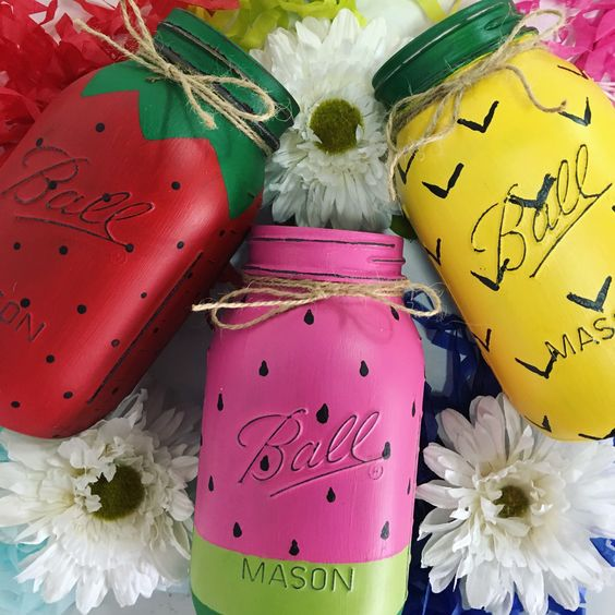 Get your summer Mason jars now! #summerdecor