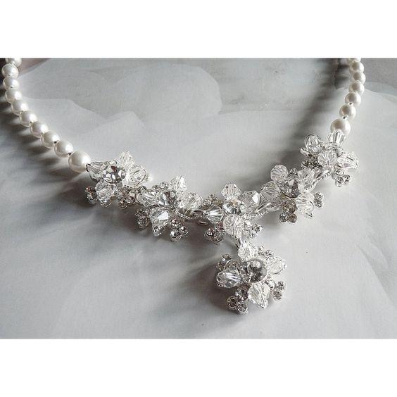 Design Brautschmuck handgefertigt Perlenkette zur Hochzeit