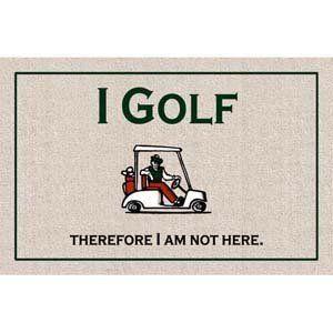 Amazon.com: I Golf Doormat: Patio, Lawn & Garden
