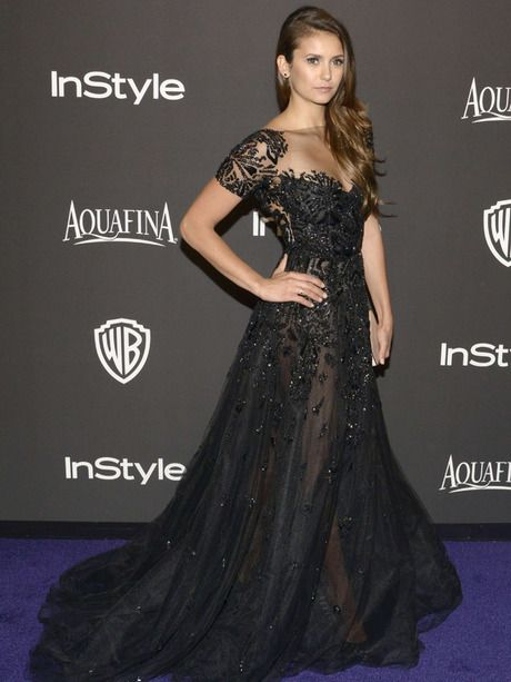 Nina Dobrev - Ian Somerhalder, Taylor Swift, Lorde : défilé glamour pour la soirée Instyle des Golden Globes - Photos People - Be.com