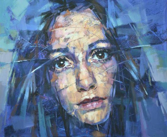 """Saatchi Art Artist Alexander Ilichev; Painting, """"PORTRAIT"""" #art"""