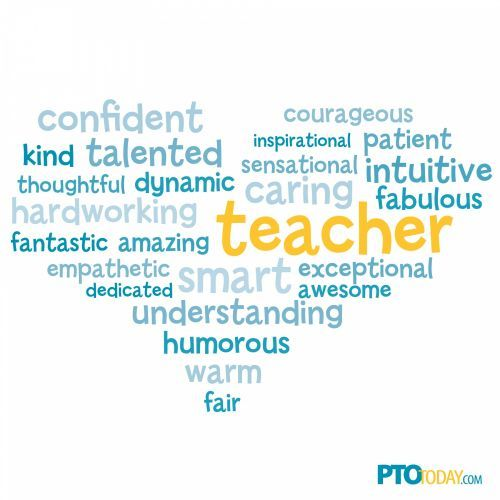 Teacher Appreciation Word Cloud from PTO Today. | Teacher Quotes ...