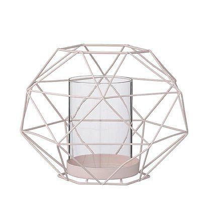 19.95 Bloomingville Teelichthalter/Windlicht - nude/rosé aus Glas und Metall