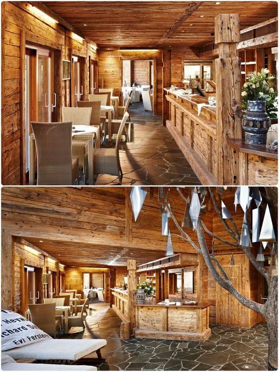 Art \ Ski-In Hotel Hinterhag Alpine Boutique Hotel Saalbach - schlichtes sauna design holz seeblick