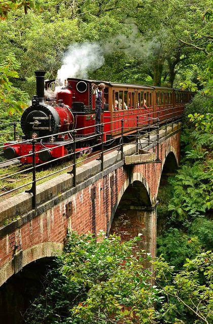 ~ Talyllyn Railway ~ Dolgoch ~ this viaduct bridge was built in 1866 ~ Wales ~ UK ~: