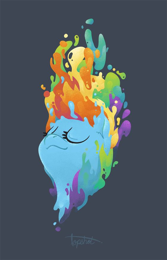 """""""Ahhhh... There's nothing like a good old Cloudsdale Rainbow to wash your mane!"""""""