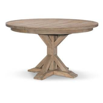Hoyt Mango Solid Wood Dining Table Pedestal Dining Table Round