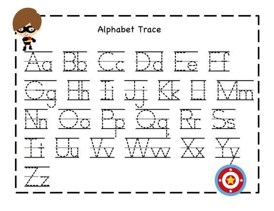 Number Names Worksheets : alphabet tracer pages ~ Free Printable ...