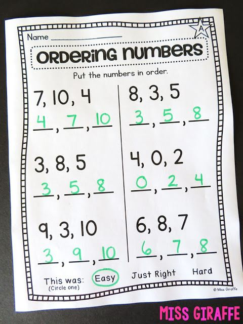 Ordering Numbers To 10 Worksheet And So Many Other Great Number Order Activities And Workshe Teaching First Grade First Grade Activities First Grade Curriculum 1st grade ordering numbers worksheets