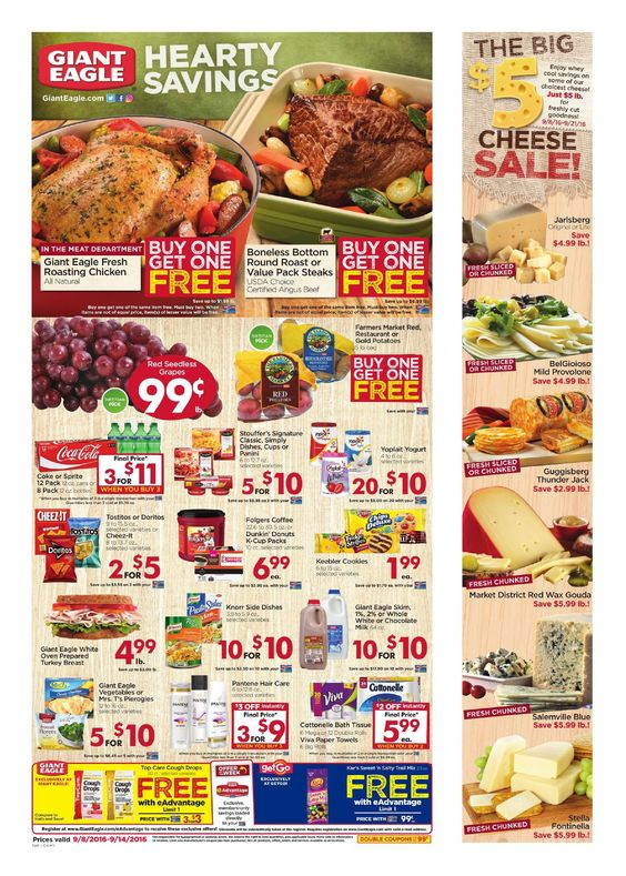 Giant Eagle Weekly Ad September 8 - 14, 2016 - http://www.olcatalog.com/grocery/giant-eagle-weekly-ad.html