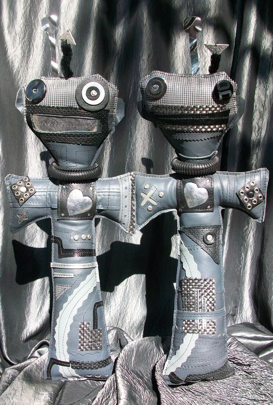 Symbionic Twins Voodoo Art Dolls. $150.00, via Etsy.